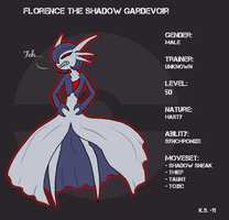 Shadow Gardevoir Florence by The-Clockwork-Crow