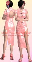 Ada Wong RE6 Chinese Dress Outfit (Pink) Model by Captain-AlbertWesker