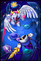 [Speedpaint] Meta Knight vs Galacta Knight by Assassin--Knight