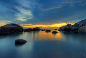 Sunset of PDL beach, Penang by fighteden