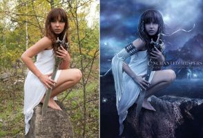 Warrior Princess Before and After by EnchantedWhispersArt