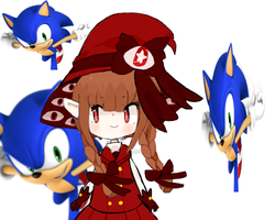 wadanohara takes a trip with sonic by towamonaka