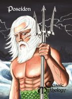 Poseidon - Classic Mythology Promo Card by Dr-Horrible
