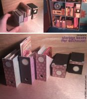 Miniature: Storage boxes (dollhouse) by fiat500S