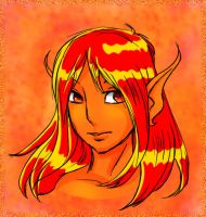 Fire Spirit Male by KittMouri