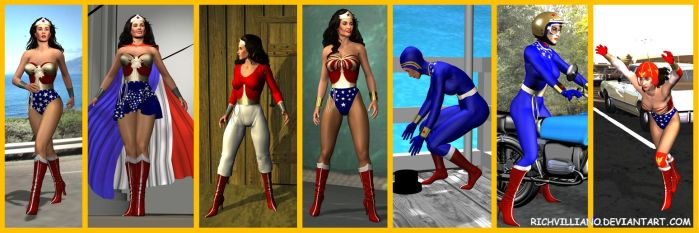 7 Copied Costumes by RichVill