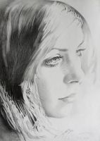 Portrait of a Young Girl (pencil on paper) by AdrianMoraru