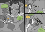 Professional Elf Smuggler--B-and-W Short Comic--2 by SpidersVore
