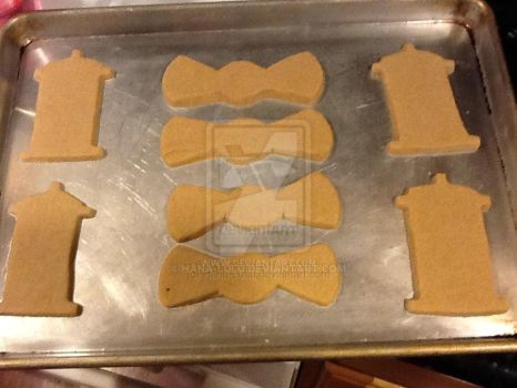 Doctor Who cookies - Cooked 1st sheet by Hana-LuLu