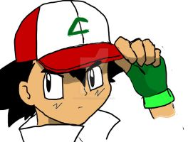 Ash Ketchum opening for johto league champions by kittyface27
