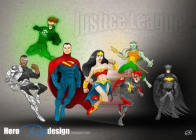 Justice League redesign by leogoncalves