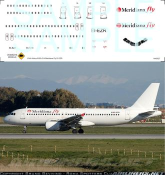 1/144 Airbus A320-214 Meridiana Fly EI-EZR by WombatsModels