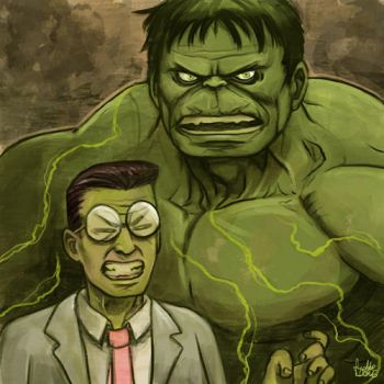 Daily Sketches Transforming Hulk by fedde