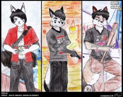 GTA V Fan Art(OC Edition) - Furry Trio by humphreylevine2014