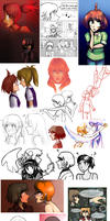 2012 Art Dump by florencegilbert