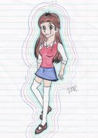 Inkset and colored pencil test by Emerald-tiger12
