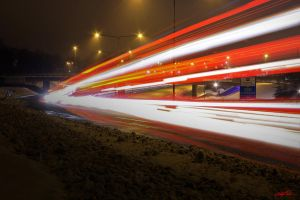 Highway Light Streaks Mayhem (E18) by CChrieon