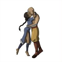 Aang and Katara by MartineHannah