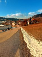 Country road in winter village scenery by patrickjobst