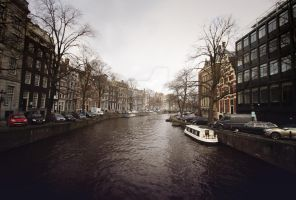Amsterdam Canal ii by Michaella-Designs