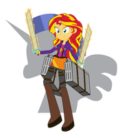 Military Guard Sunset Shimmer by Amante56