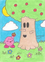 Kirby and Whispy Woods by MarioSimpson1