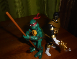 TEAMUP: GOLD RANGER AND MIRAGE DONNIE by TMNTFAN85