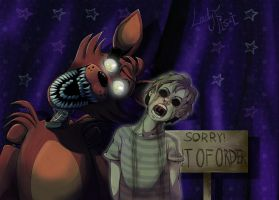 FNAF - Foxy and his ghost by LadyFiszi