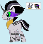 Mlp: Zecora x K.Sombra for SaskedieJagerin by BlackTempestBrony