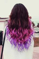 Purple ombre dip dye by Novester27th