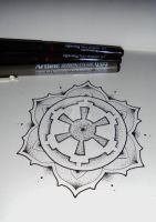 Galactic empire inspired mandala tattoo #7 by MadPorcupine
