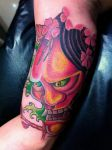Freestyle new school oriental design hannya mask by brylislle