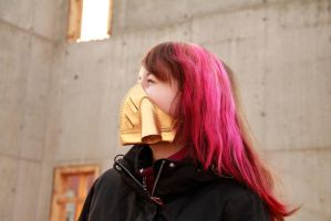 Gold Respirator Mask by DracoLoricatus