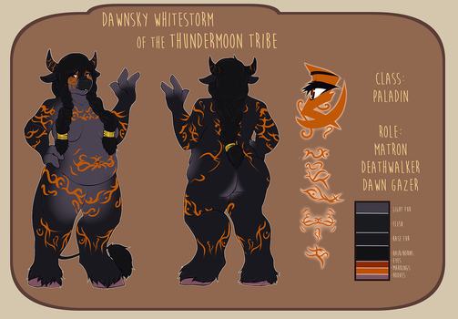 [Commission] Dawnsky Reference Sheet by DuoVandal