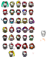 Hello Kitty Vocaloids/UTAUloids by Damianne-Violet