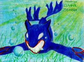 Pokemon Alpha Sapphire Kyogre under the sea by RainAtronach