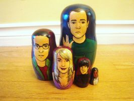 The Big Bang Theory Nesting Dolls by bachel60