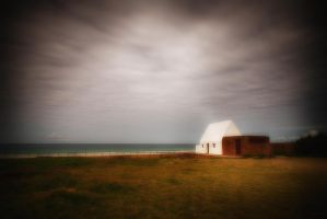 A White House By The Beach by AntonioGouveia