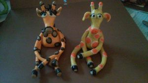 Gilli and Geoff the Giraffe Twins by Binkees-Baubles