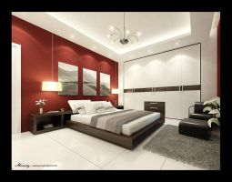 Utaibi House - BedRoom by mohamedmansy