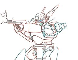 PATLABOR: Alphonse shooting (work in progress) by chiryogatito