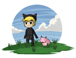 Link The Pig HURRRF by Icy-Snowflakes