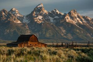 Sunrise on Mormon Row 2 by mikewheels