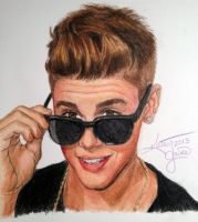 Justin Bieber Colored Pencil by Krytya