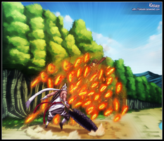 Killer Bee VS Itachi by Kasukiii