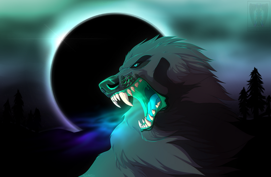 Roar Of The Moon + SPEED PAINT by TheAmazingTrashCan