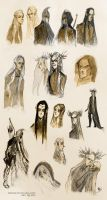 Tolkien elves - sketches III by Eis-Blasich