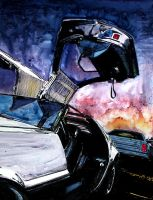 DeLorean Door Detail by ferrariartist