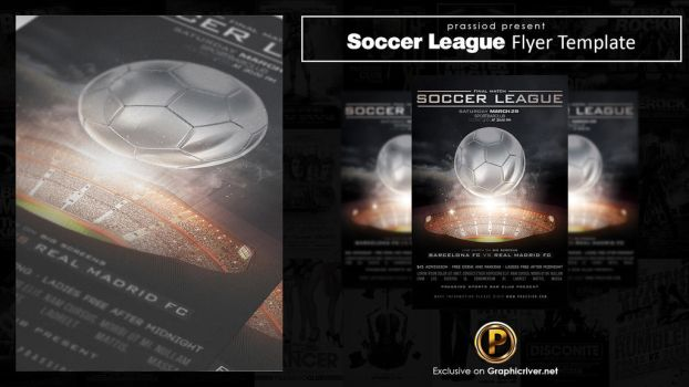 Soccer League Flyer Template by prassetyo
