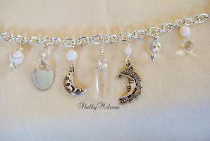 Silver Moon Goddess Bracelet by ShelbyMelissa